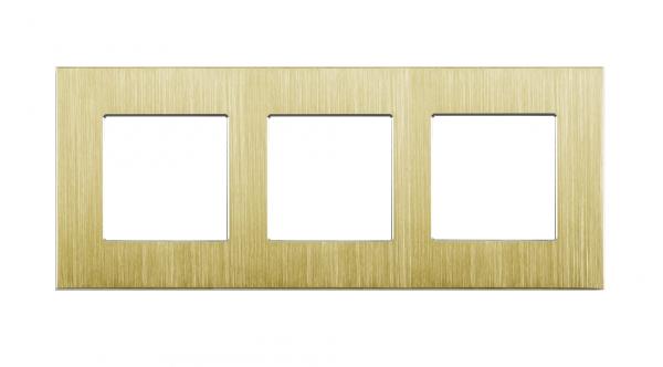 Gold, Nur Alu Rahmen 3 Fach LUX