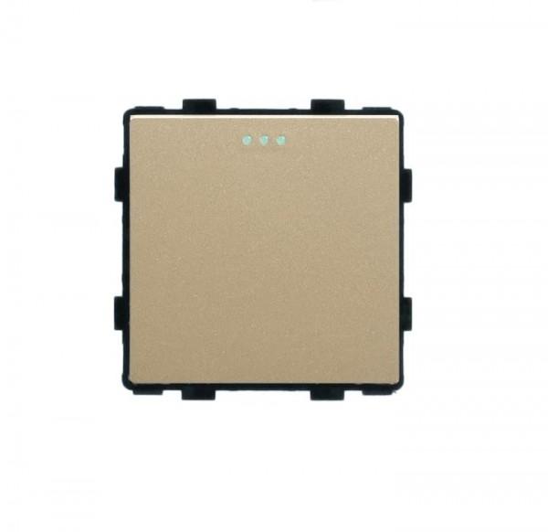 LUX Wipp Taster Lichtschalter Modul 1 Fach in Gold LX-101B-13