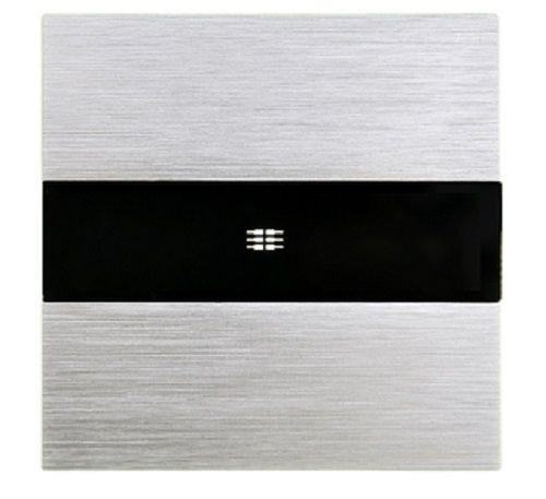 Wechselschalter Kreuzschalter Lichtschalter Alurahmen mit Glaseinsatz M3