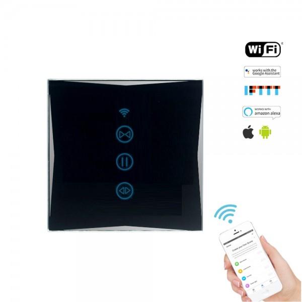 Smart Rolladenschalter WLAN APP Touch Google Home Amazon Alexa HL0607-12 Schwarz