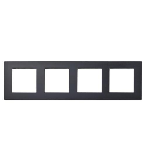Rahmen 4fach Schwarz Glas LUX4999 Schwarz