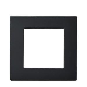 Rahmen 1fach Schwarz Glas LUX4999 Schwarz