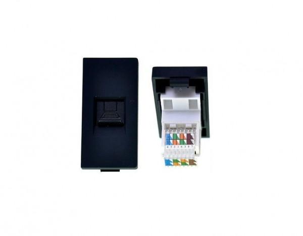 Netzwerkdose 1/2 Schwarz LUX4999 Schwarz