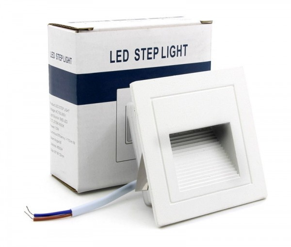5x LED Außen Treppenbeleuchtung IP65 Schutz 3W für AUSSEN Außenleuchte Leuchte Weiß