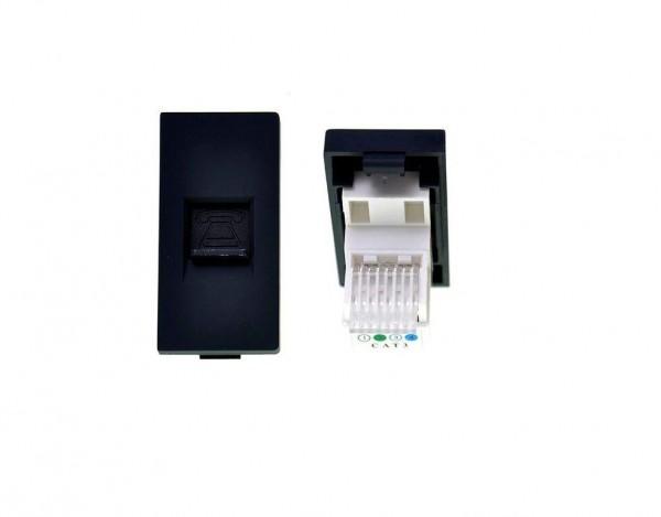 Telefondose 1/2 Schwarz LUX4999 Schwarz