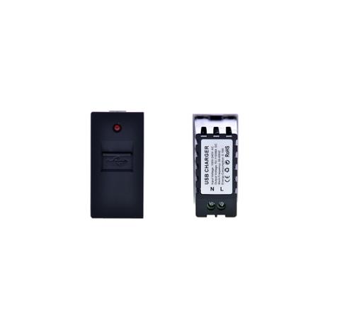 USB 1/2 zum aufladen Schwarz LUX4999 Schwarz