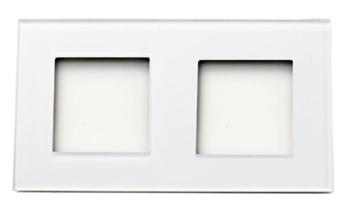 Rahmen 2fach Weis Glas LUX4099 Weiß