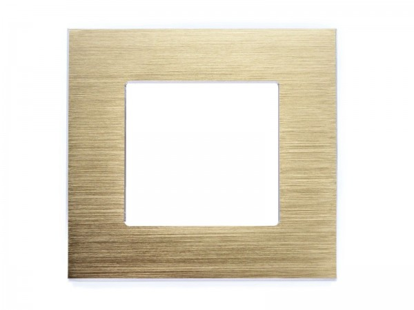 1Fach Rahmen Alu Gold Lux