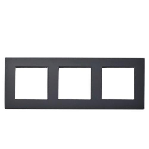 Rahmen 3fach Schwarz Glas LUX4999 Schwarz