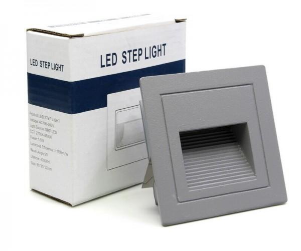 LED Außen Treppenbeleuchtung IP65 Schutz 3W für AUSSEN Außenleuchte Leuchte Grau