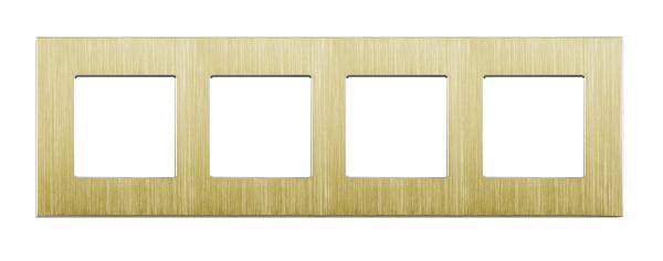 Gold, Nur Alu Rahmen 4 Fach LUX