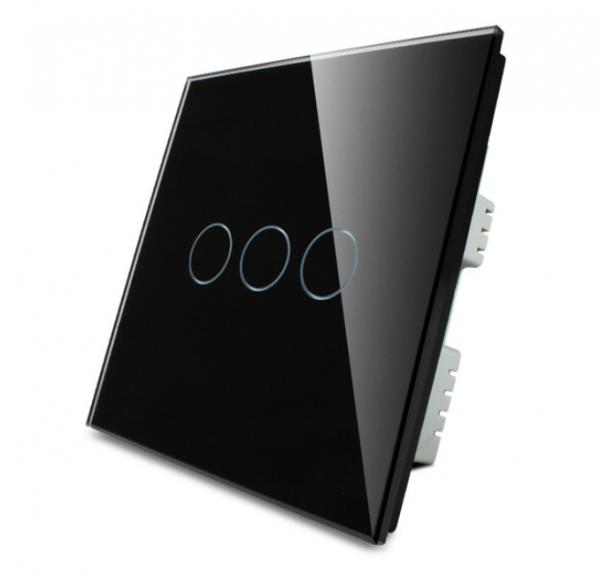 Lichtschalter 3 Fach VL-C303-62 Schwarz