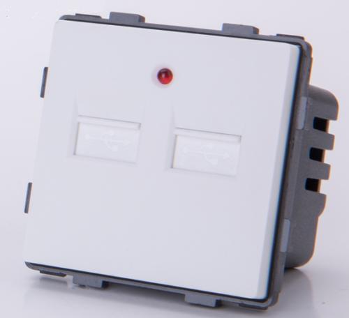 USB 2fach zum aufladen Weis LUX4099 Weiß