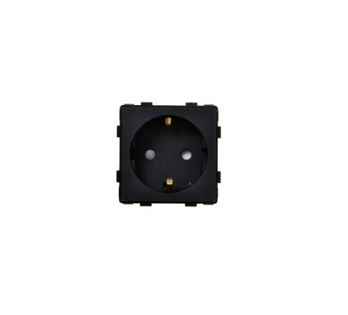 Schwarz Modul: Steckdose Schwarz; | Luxus-Time Lichtschalter Online Shop