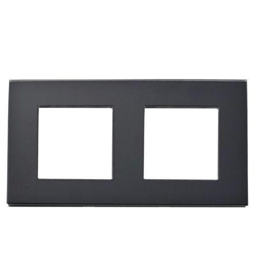 Rahmen 2-fach Schwarz Glas LUX4999 Schwarz