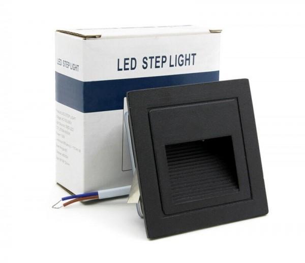 LED Außen Treppenbeleuchtung IP65 Schutz 3W für AUSSEN Außenleuchte Leuchte Schwarz