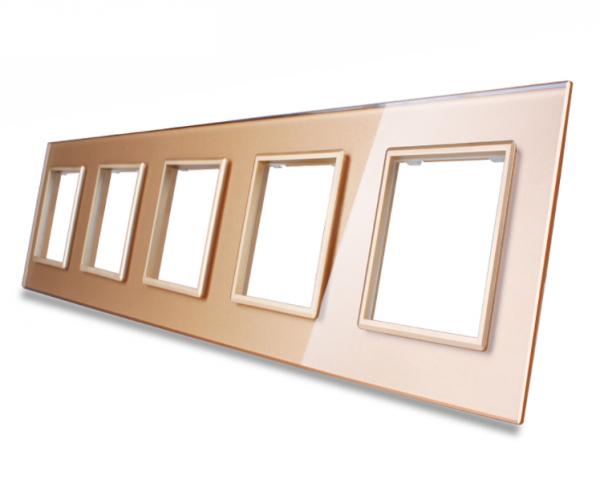 Nur Glasblende 5 Fach VL-C7-5SR-13 Gold