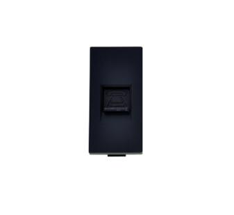 Modul Telefon Dose 1/2 Schwarz LUX